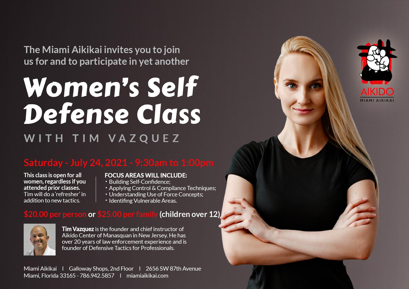 Miami Aikikai Women self defense